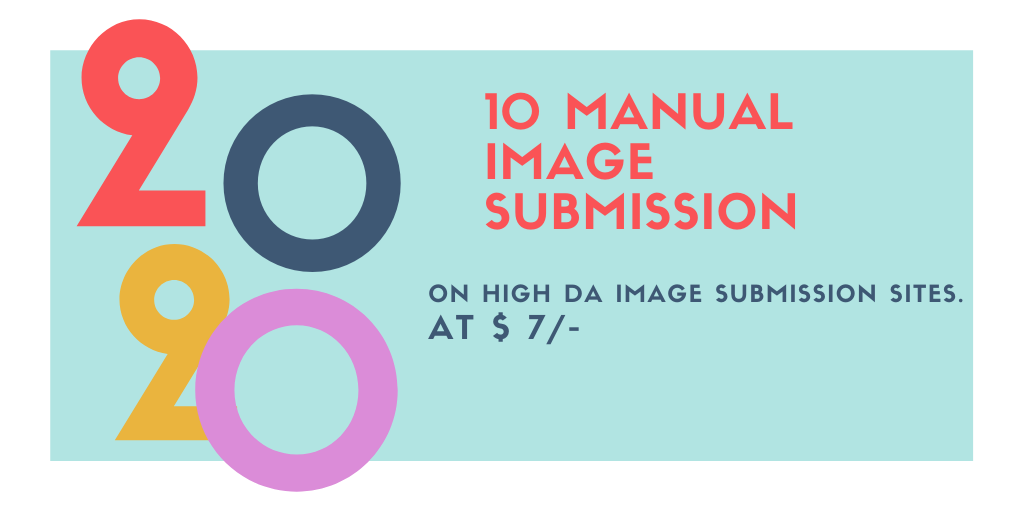 Manual 10 Image Submission On High DA Image Submission Sites.