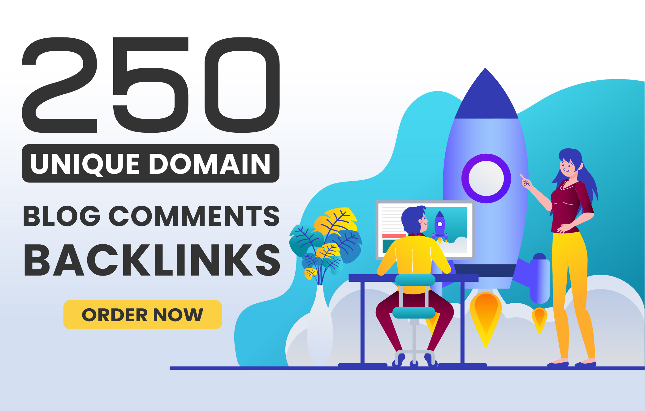 I will make 250 Unique Domains Blog Comments Backlinks with High DA PA
