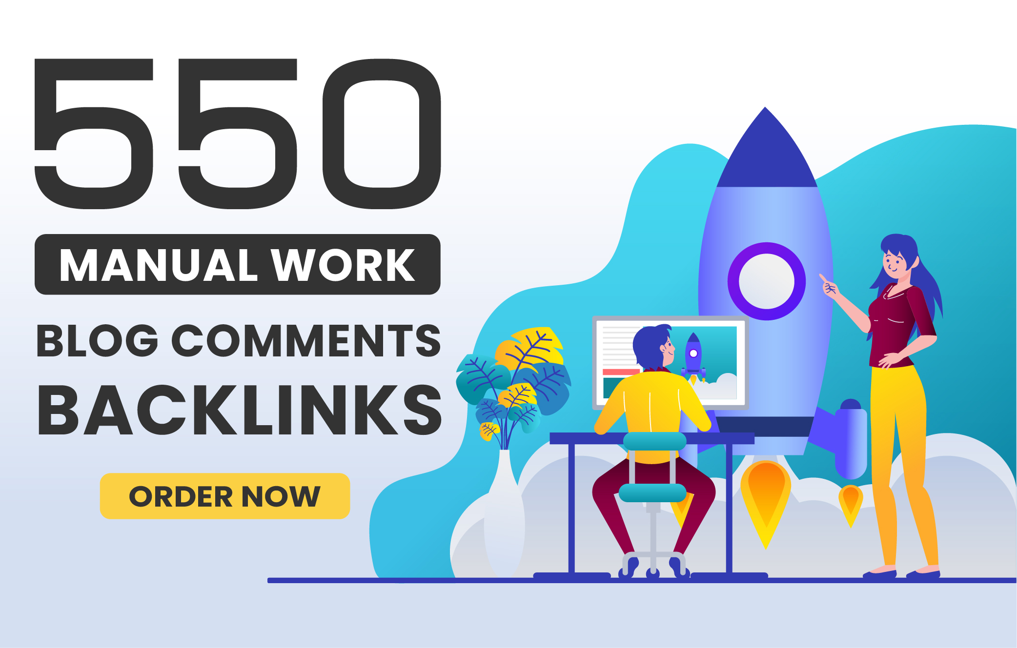 I will make 550 manual Blog Comments Backlinks with High DA PA