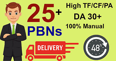 create 25 permanent PBN contextual backlinks with DA PA and trust flow