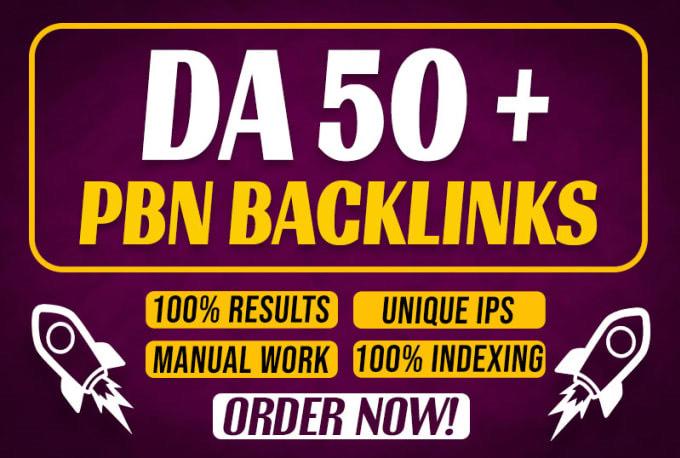 Create PBN 10 DA 50+ Homepage Permanent high quality do follow Backlink