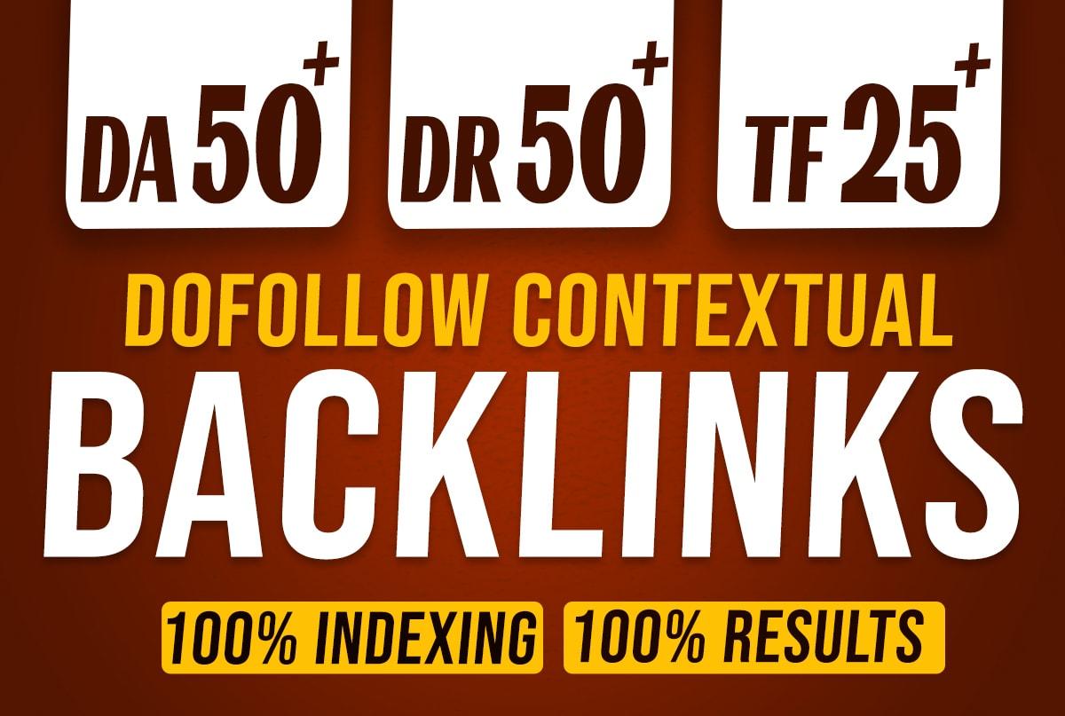 I will create 5 PBN DR/DA 50+ TF 25+ contextual high seo do follow backlinks