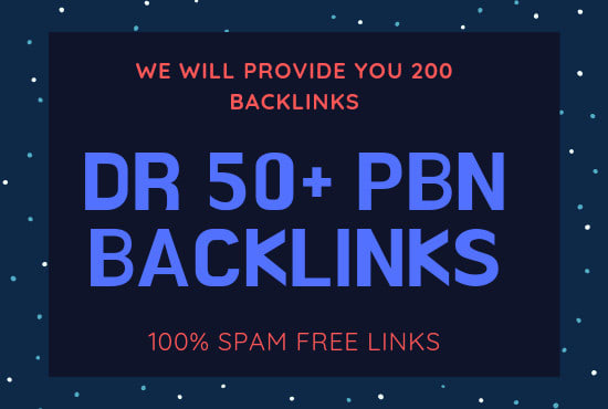 I will make 200 PBN Permanent DR 50to70 Homepage high quality Dofollow Backlink
