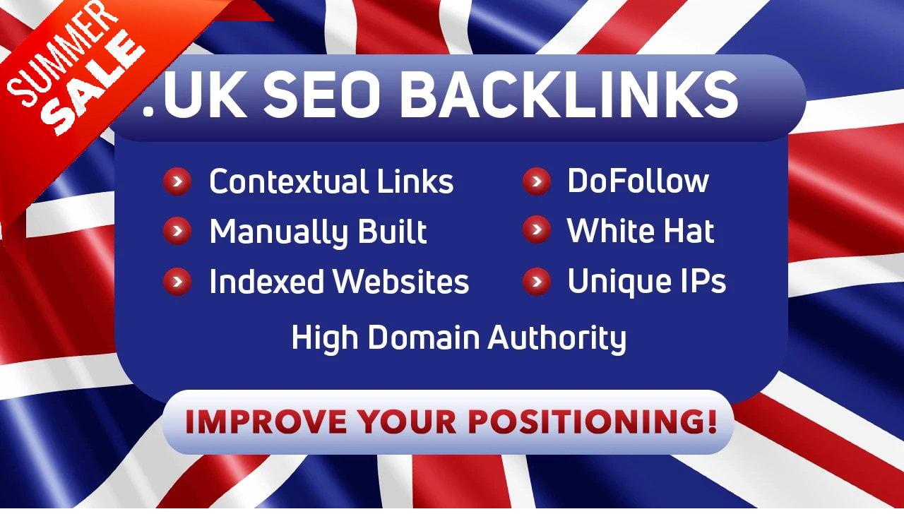 Build 5 PBN. co. UK domains DA 70+ PA 40+ 0 spam score HIGH Quality HomePage Do follow Backlinks