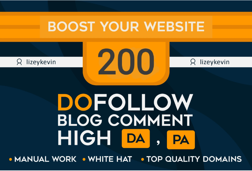I will create 200 dofollow blog comment quality high DA PA backlinks