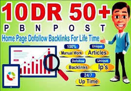 I will 10PBN DR 50 dofollow permanent homepage pbn backlinks for