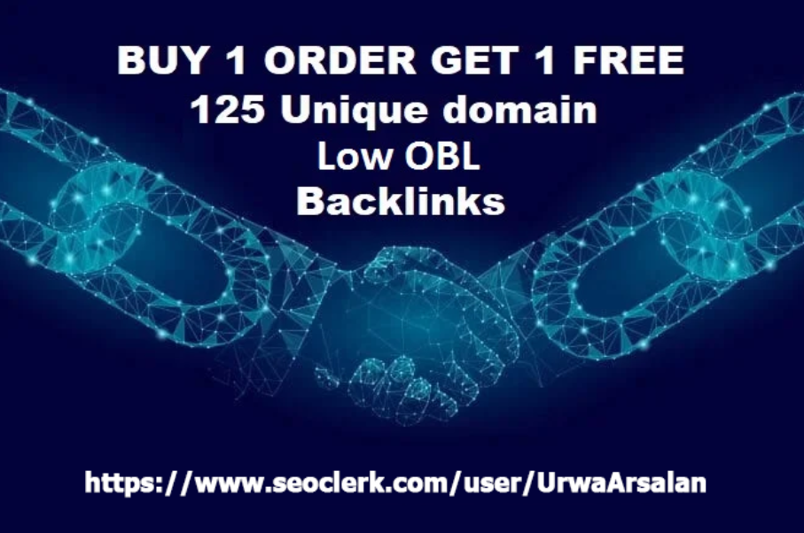 Get 125 Unique Low OBL Blog Comment Dofollow Backlinks On DA 30 to 90