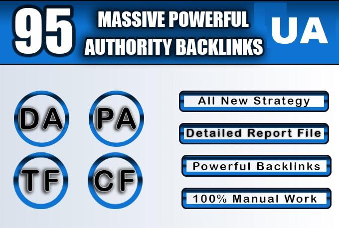 Get 95 Unique Mix Dofollow Backlinks On Top High DA 95 Domains