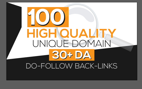 I will provide 100 unique domain 30 plus DA high quality