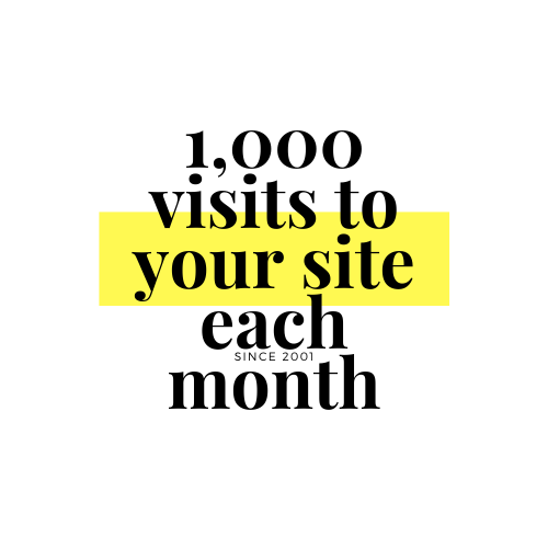 1,000 high-quality targeted visits to your site