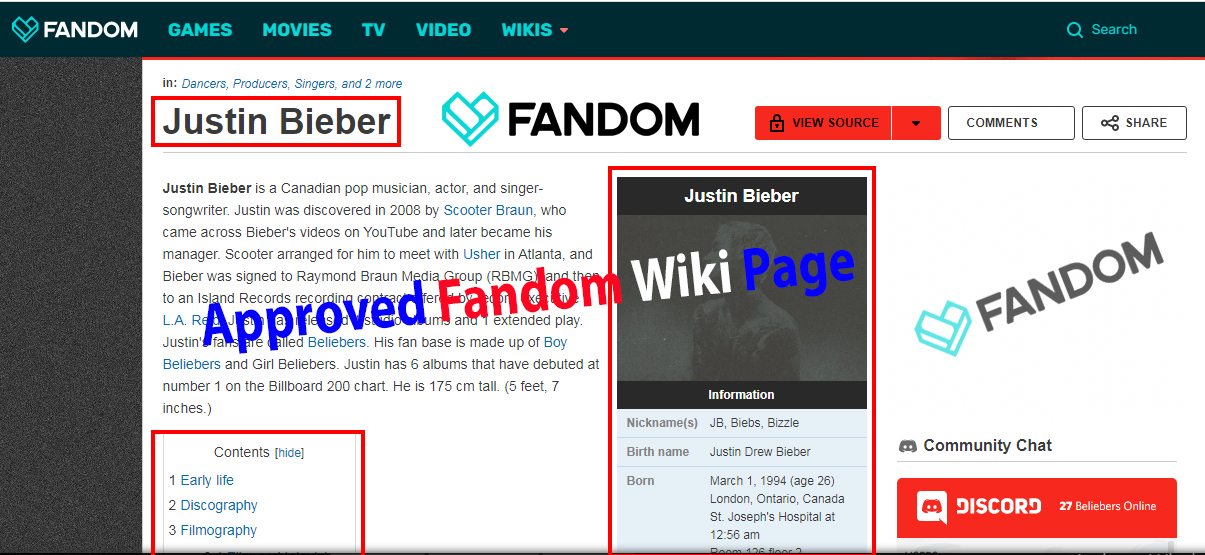 I will Create an Approved Fandom Wiki Page