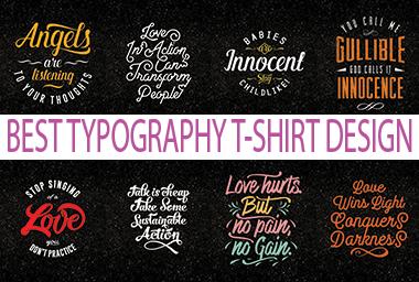 I will make bulk amazing typography printable t-shirt-design