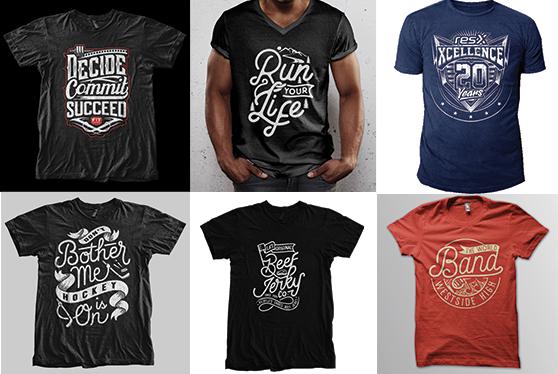 I will do bulk amazing typography printable t-shirt-design