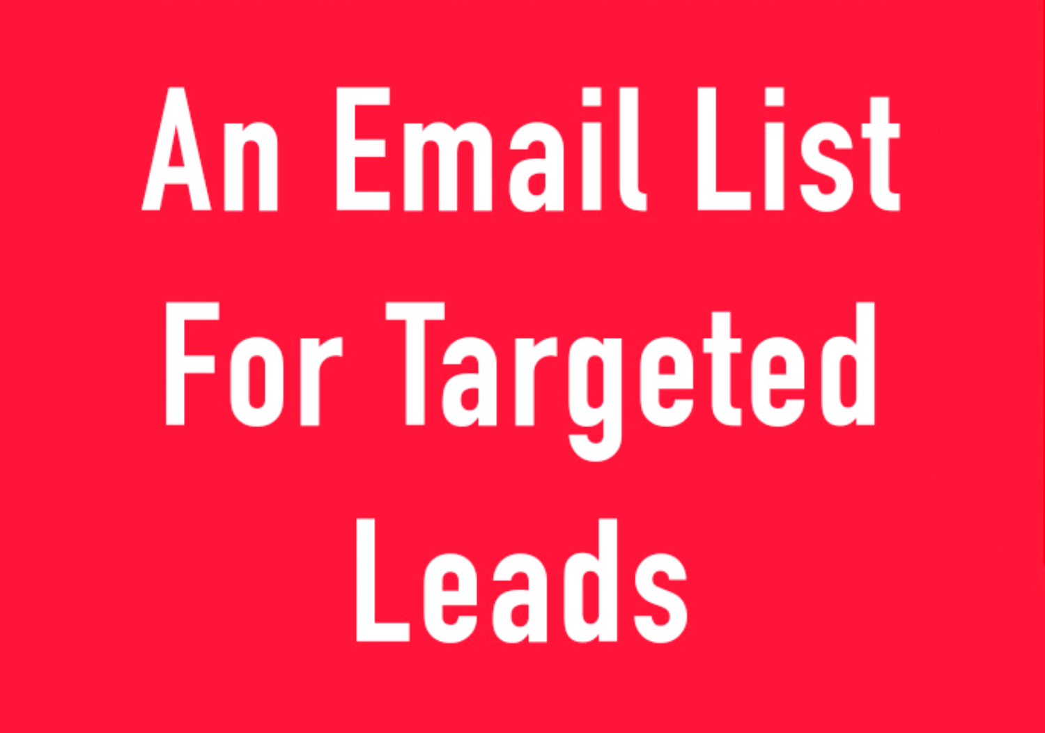 Provide you 500 targeted Emails List