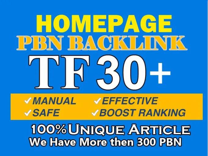 i will provide 10 TF 30+ pbn backlinks