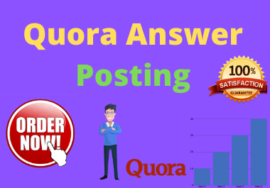 2 High Quality Quora Answer With your Keyword & URL