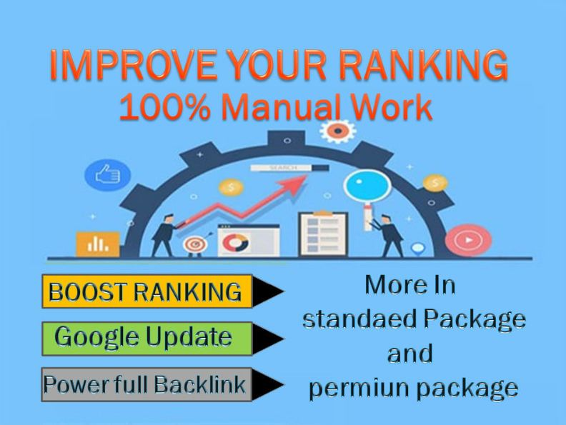 I will do seo off page package with high quality backlinks improve first page rank