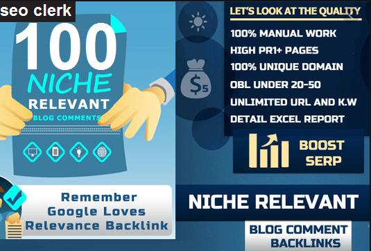 I will make 100 niche related high DA PA and Low OBl blog comment backlinks
