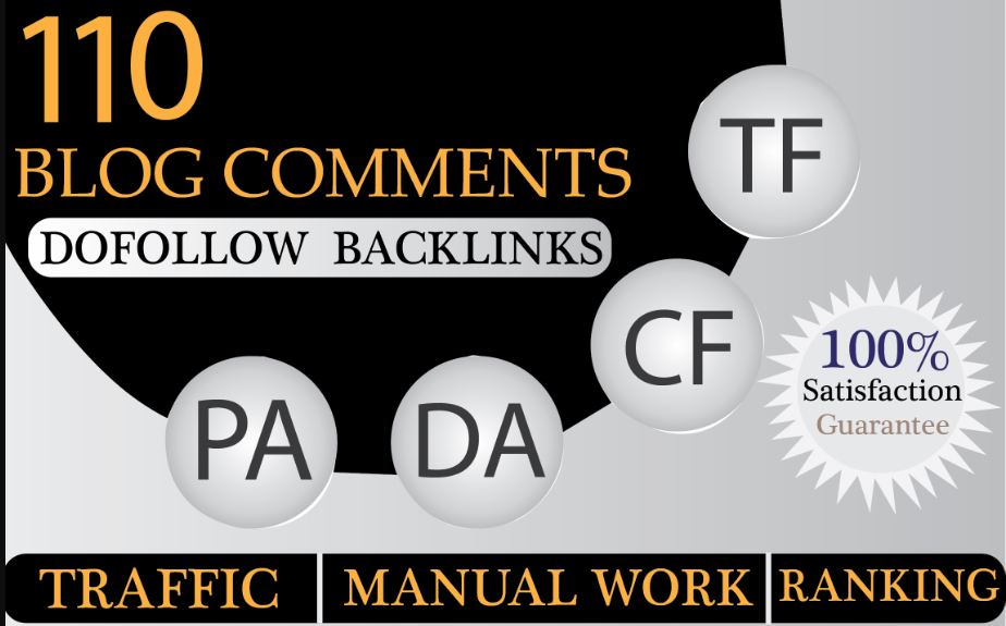 i will provide 110 Dofollow Blog comment backlinks off page optimization