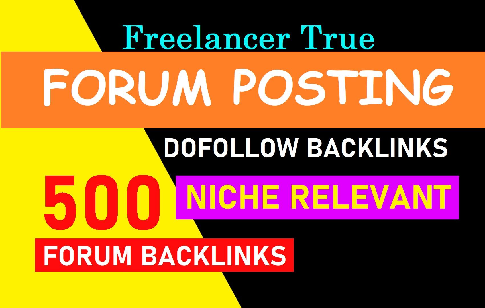DA 50+ High Quality 50 forum posting backlinks
