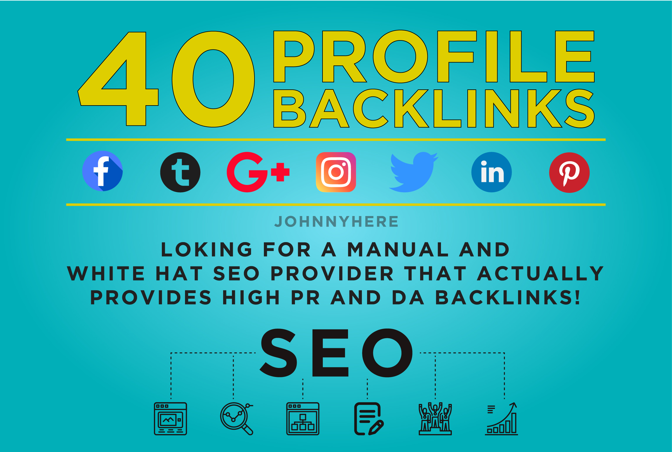 I will create HI DA high quality pr9 dofollow profile backlinks