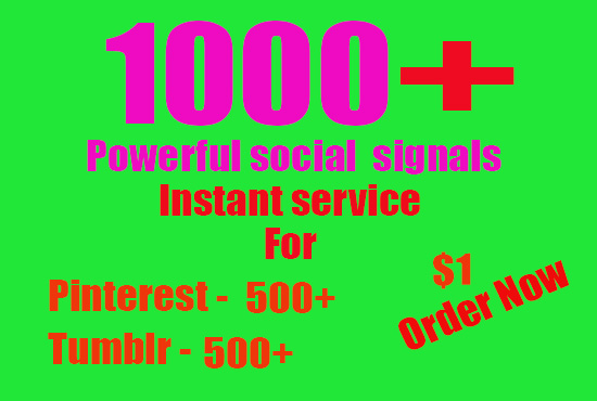 1000+ Web Share Social Signals PR 10 Boost for 2 days