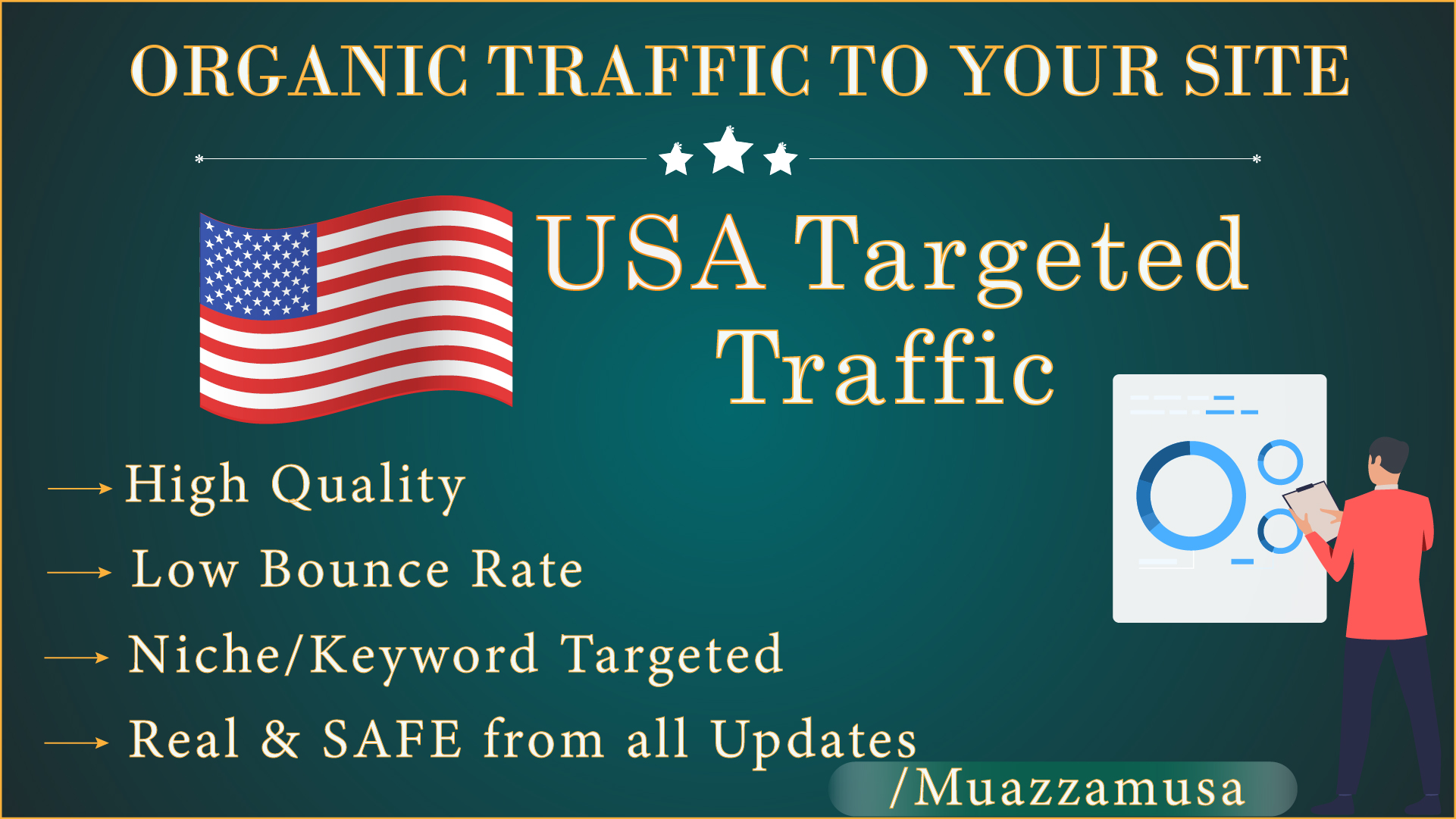 USA Niche targeted traffic for 30 days