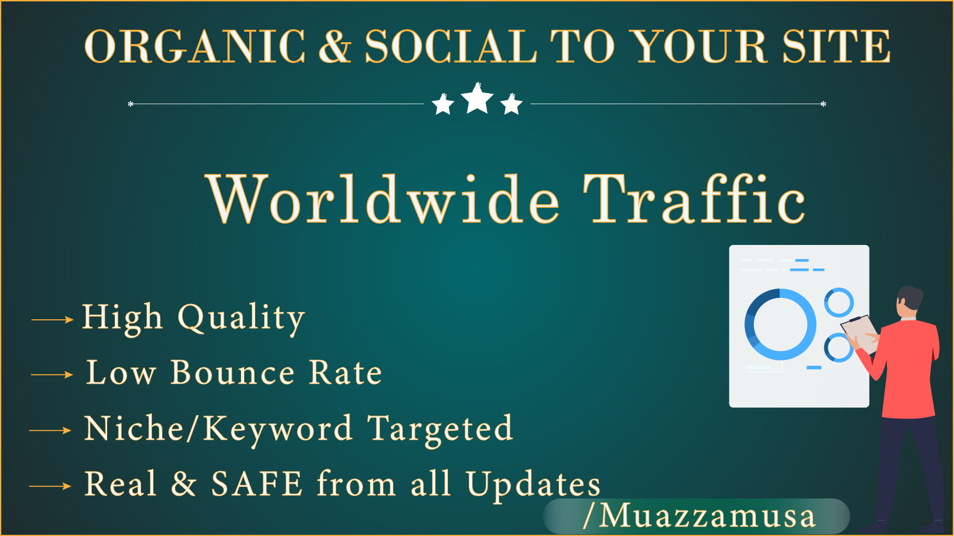 Worldwide Organic & Social Google,  Bing,  Yahoo and Top Social media platforms 30 Days
