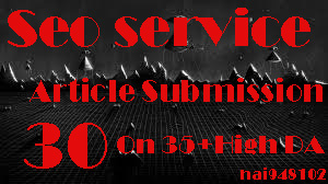 I will provide 30 article submission on 35+ high DA