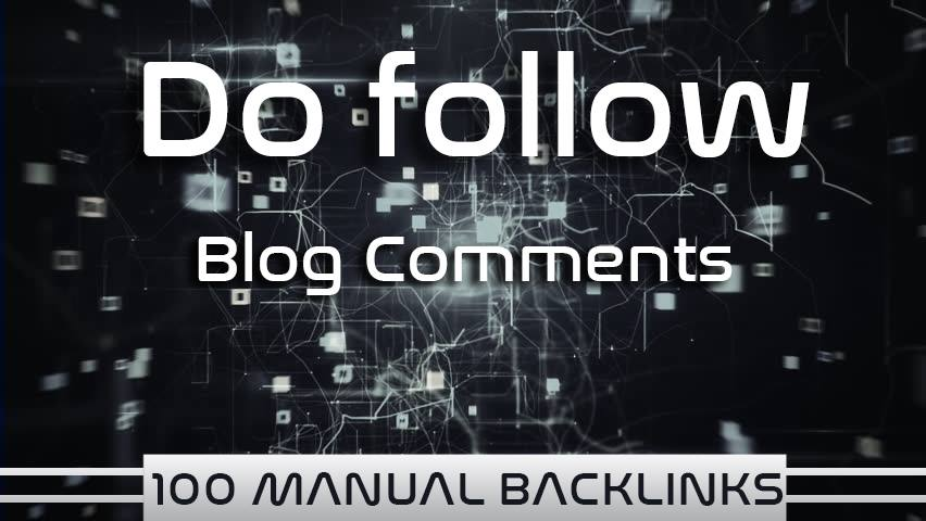 i provide manual backlink blog comment