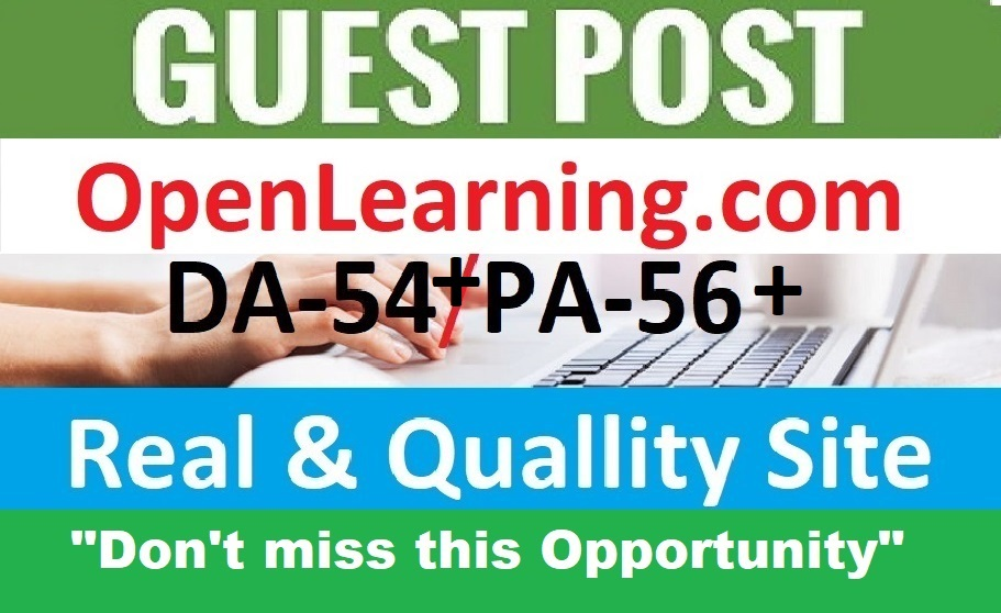 I will publish guest post on openlearning DA 55