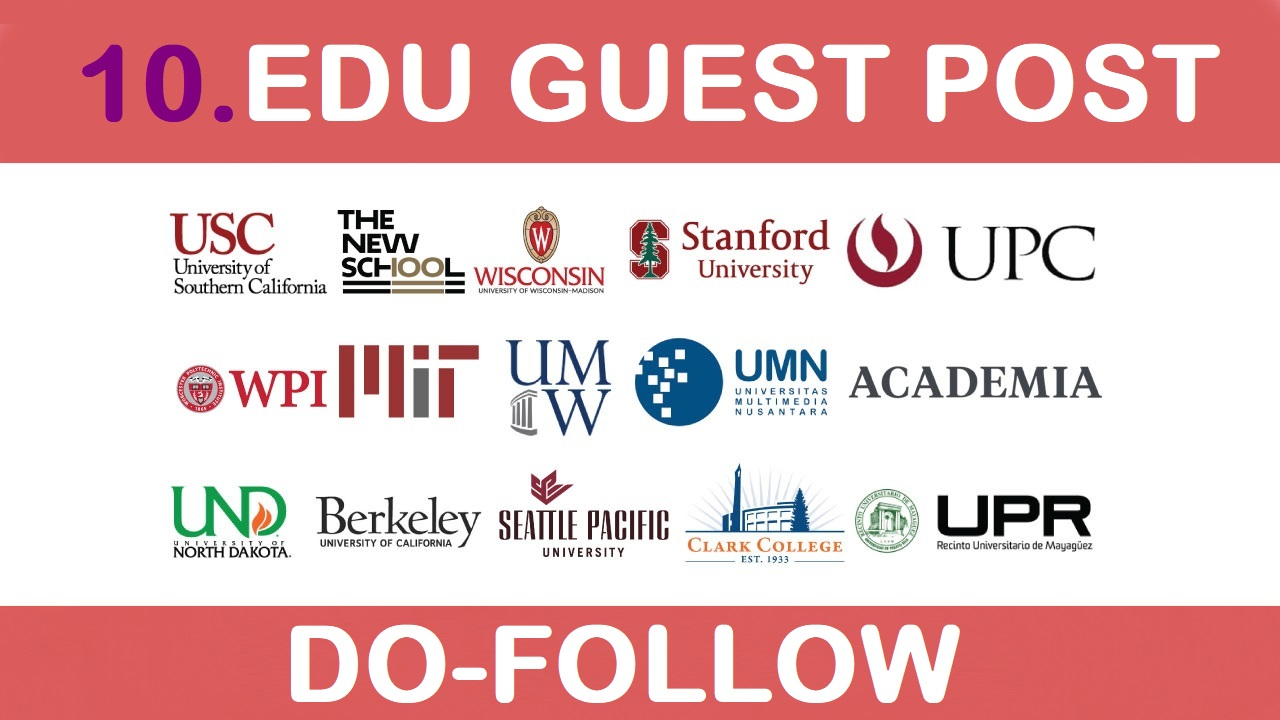 I will provide 10 edu post on top universities sites