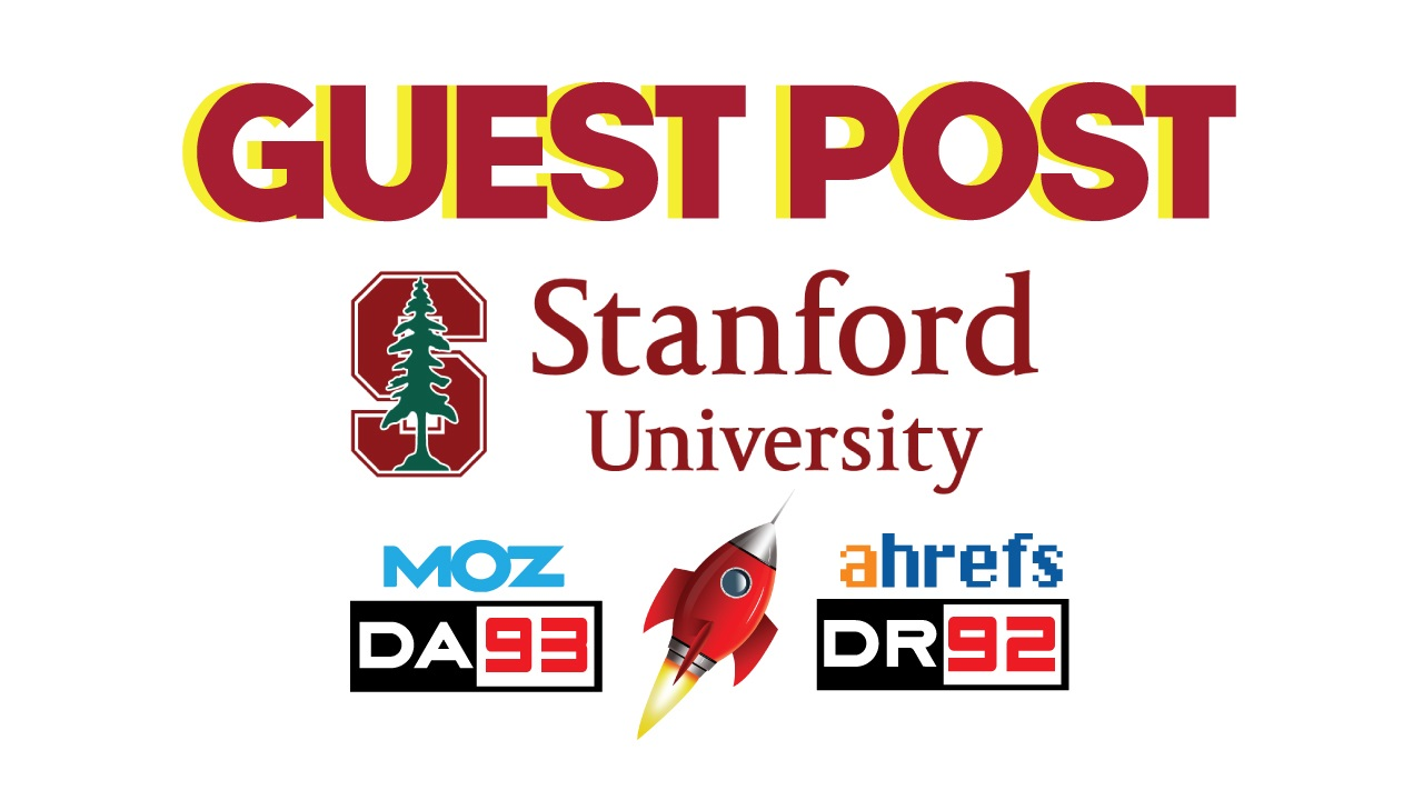 provide guest post on USA education website stanford edu da 94