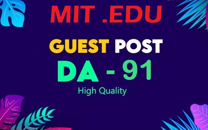 I will provide guest post on mit edu da 93 with dofollow link