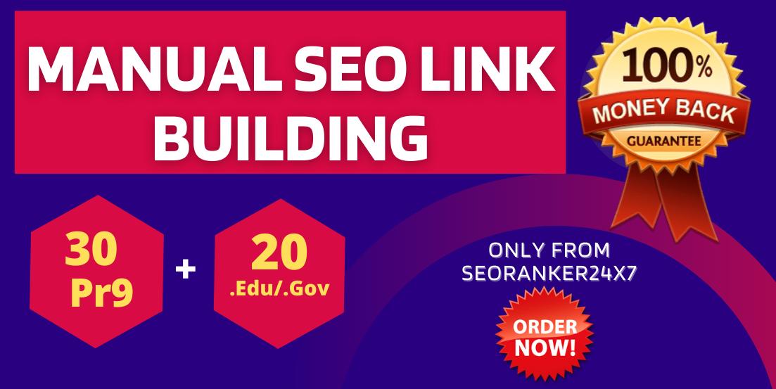 I will Provide 30 Pr9 + 20 Edu/Gov Exclusive SEO Backlinks - Increace your google rank