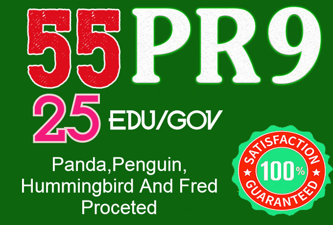 I Will do 55 Pr9+ 25 Edu/Gov Safe seo Authority Backlinks-Fire your google Ranking