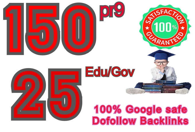 I will manually Create 150 pr9 & 20 edu/gov Dofollow backlinks,  2021 Best Result