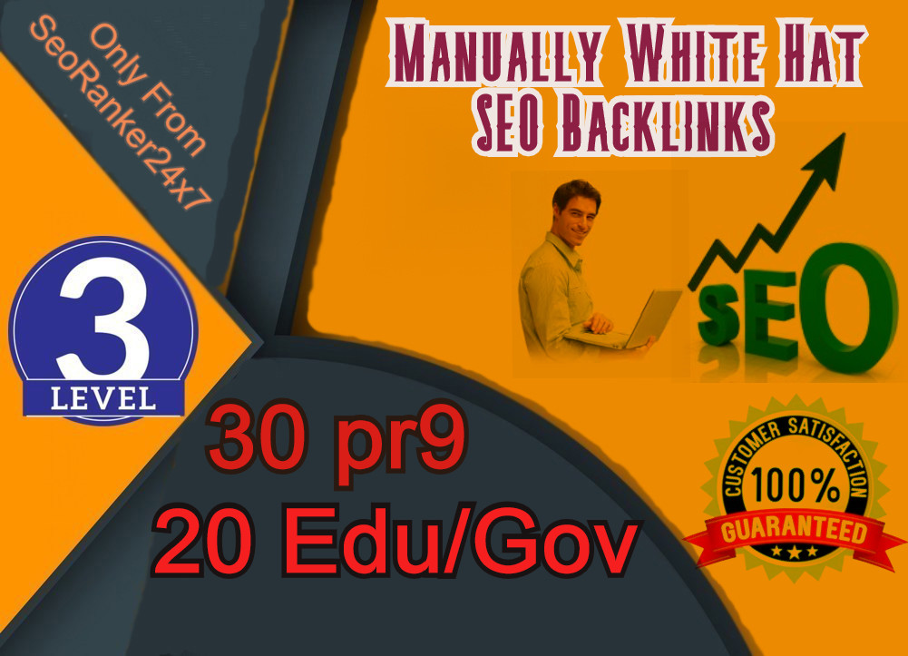Exclusive 30 Pr9 + 20 Edu/Gov SEO Profile Backlinks