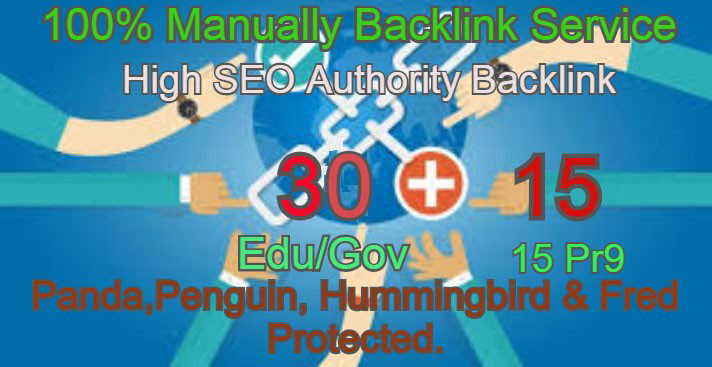 I Will Manually do 30 Edu/Guv + 15 Pr9 High DA PA Seo Profile Backlink- Skyroket your Google ranking