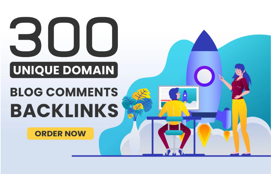 I will make 300 unique domains blog comment backlinks in high da pa