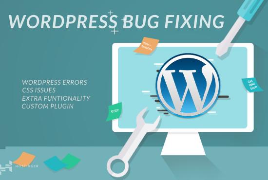 I will fix wordpress bugs,  errors,  issues