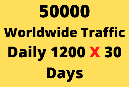 I will send 50000 web traffic worldwide for sales