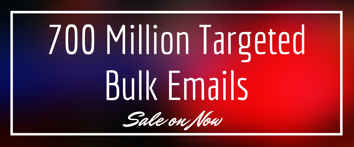 700 Million Bulk mails for emails marketing and increasing sales