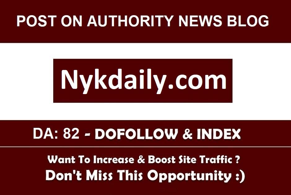 Add A Guest Post On nykdaily. com DA 37