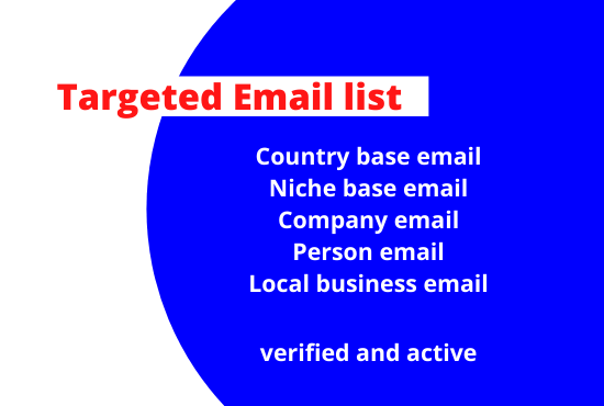 I will scrape any niche base email list for your business