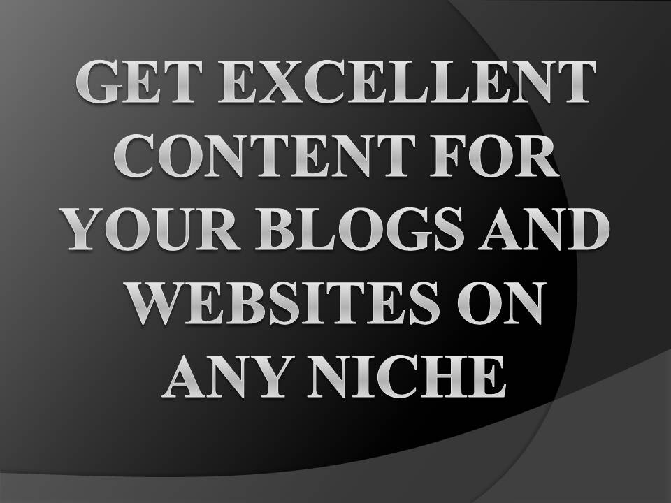 Get Content Created for your Blogs and Websites