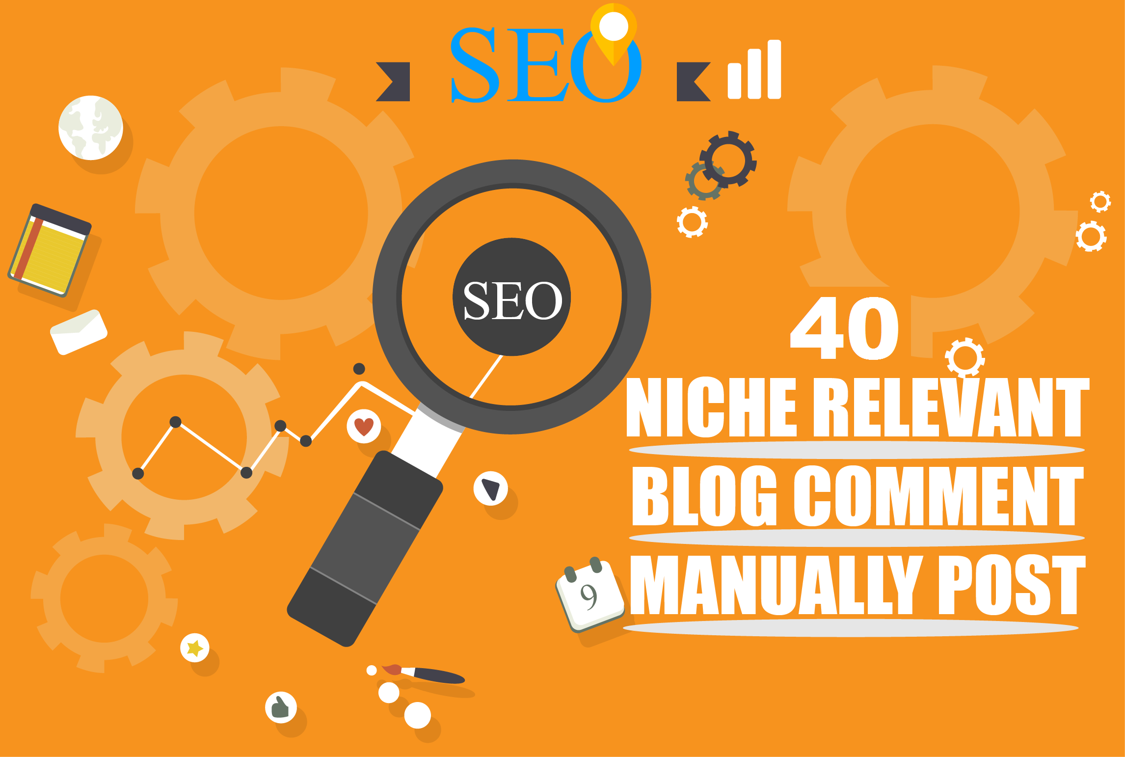 I will do 40 niche relevant blog comments nofollow backlink top quality guaranteed