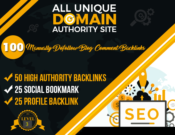 I will 100 manual quality dofollow backlinks on high authority