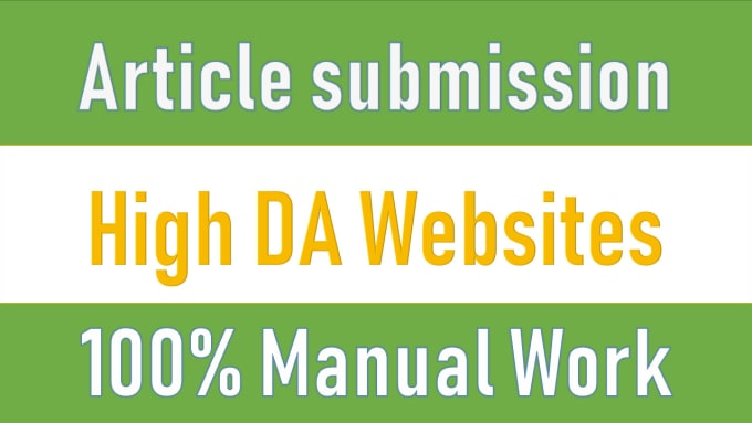 I will 40 article submission on high da websites for SEO