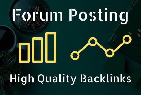 I will create 50 forum posting SEO backlinks link building